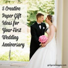 If you're looking for creative paper gift ideas for your 1st wedding anniversary check out these 5 fun ideas!