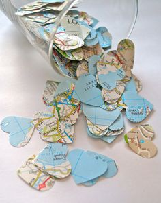 Around the World' Map Table Confetti 1000 by Marrymevintageirish, $12.50