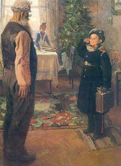 Фёдор Решетников Прибыл на каникулы. 1948