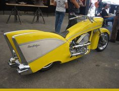 Úžasný motocykel Chevy z roku 1957 (Video) - správy Rat Rods, Automobile, Side Car, 1957 Chevy Bel Air, Cool Motorcycles, Hot Bikes, Bobbers, Choppers, Mellow Yellow