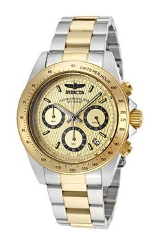 Invicta Men's Speedway 18K Gold Plated Chronograph Watch by SWI Group on @HauteLook