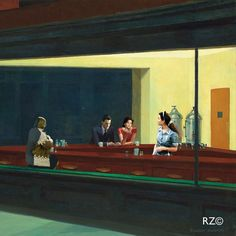 Twin peaks vs Nighthawks Edward Hopper