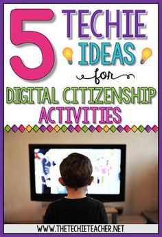 5 EASY techie ideas for digital citizenship activities: iPads, GAFE, websites Computer Lab Lessons, Technology Lessons, Teaching Technology, Digital Technology, Educational Technology, Computer Class, Computer Science, Instructional Technology, Teaching Computers
