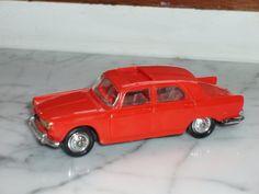 Norev Peugeot 404 1/43ième rouge N°51