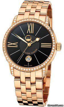 Ulysse Nardin Classico Luna Rose Gold Diamonds $31,950 #Longines #watch #watches…
