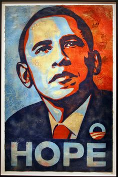 National Portrait Gallery Hangs Shepard Fairey's Portrait of Barack Obama | by cliff1066™