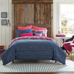 If ONLY they had this in a KING size! Anthology® Happy Indigo Reversible Full/Queen Comforter Set from Bed Bath & Beyond