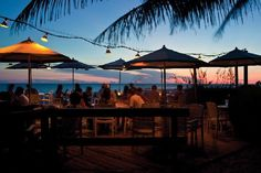 The Beach House Restaurant on Anna Marie Island. Great place to dine and watch the sunset on the beach. Decent live entertainment.