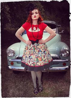 Kiss Me Darling Swing Skirt