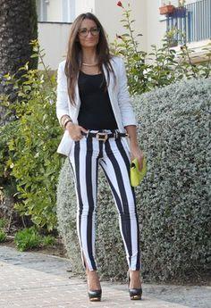 antelo | pantalon rayas blanco y negro | Chicisimo