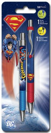 Superman - Gel Pen Mechanical Pencil Combo - 2pk