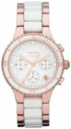 DKNY Ceramic White Dial Women's Watch #NY8504 DKNY. $214.99. Dial color: white. Band color: rose gold white ceramic links. Condition:brand new with tags. Model: NY8504. Brand:DKNY. Save 22% Off!