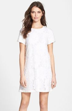 Just got this dress.  So cute for the spring/summer.  Now it just needs to get warm!  CeCe by Cynthia Steffe 'Kayte' Short Sleeve Lace Shift Dress available at #Nordstrom