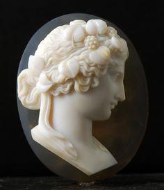 Camée 19e siècle en agate, - - Jewelry