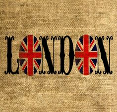 LONDON Union Jack Vintage Font