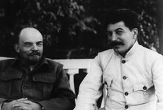 Stalin & Lenin together.