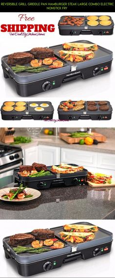 Reversible Grill Griddle Pan Hamburger Steak Large Combo Electric Nonstick Fry  #grills #products #parts #racing #fpv #drone #gadgets #technology #electric #tech #kit #camera #shopping #plans