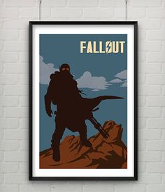 Fallout Poster 11x17 Video Game Art Inspired by CaptainsPrintShop