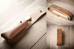 The leather pocket knife sheath was designed to fit comfortably on your belt. With a built-in belt loop and snap closure the pocket knife case is simple, durable and downright minimal. It makes a great gift for the rugged man out there in the mountains carrying a survival tool on his hip. The pocket knife sheath is handmade from full-grain vegetable-tanned leather sourced from the top tannery in the U.S. and Mr. Lentz cuts, brands, stamps, dyes, oils and waxes and assembles each piece by…