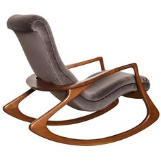 Vladimir Kagan Rocking Chair | From a unique collection of antique and modern rocking chairs at https://www.1stdibs.com/furniture/seating/rocking-chairs/