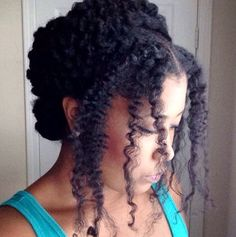 Pretty casual natural hairstyle
