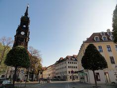 Dreikönigskirche und Rebeccabrunnen im Dresdner Barockviertel unweit der Fewo CANALETTO
