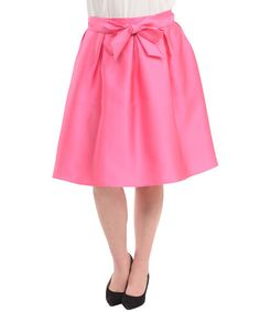 Look what I found on #zulily! Fuchsia Bow-Accent A-Line Skirt - Plus #zulilyfinds
