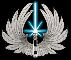Realistic Jedi order logo by Gardek on DeviantArt Star Wars Love, Star Wars Art, Obi Wan Lightsaber, Jedi Symbol, Knights Of Columbus, Jedi Knight, Star Wars Wallpaper, Tatoos, Symbols