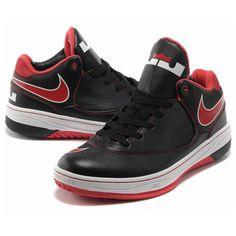 Nike Air LeBron EE X Mid Basketball Shoes Black/Red AML-129 via Polyvore
