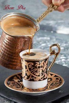 Mmmm Turkish / Serbian / Greek / Bosnian coffee served from a džezva... brings back good memories