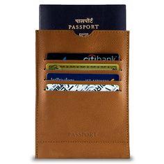 Cognac Tan - Ace Leather Passport Wallet Sleeve