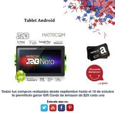 Una excelente Tablet para poder ver tus redes sociales y almacenar tus archivos preferidos.  http://amzn.com/B00B7SMR3C