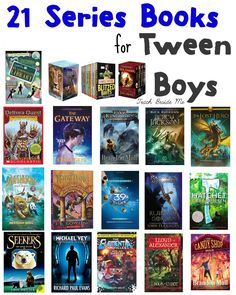 21 Series Books for Tween Boys Are you looking for books for your tween boy? This list of 21 series books for tween boys will definitely get your son excited about reading! Middle School Boys, Middle School Reading, Kids Reading, Teaching Reading, Reading Books, Reading Library, Middle School Series, Middle School Libraries, 6th Grade Reading