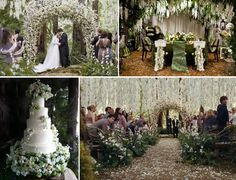 I can't help it.... It's so pretty. Reception decor inspiration from the wedding in The Twilight Saga: Breaking Dawn….Horrible movie, fantastically beautiful wedding.