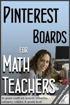 Pinterest Boards for Math Teachers