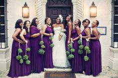 bride & bridesmaids | purple