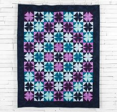 Boundless Blenders Aura Fabric & Shimmering Galaxy Pattern Quilt Kit - None
