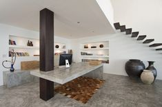 Floating staircase modern study(id be scared that one day they'd stop floating lol)