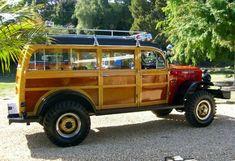 1949 Dodge Power Wagon 4x4 Woody Fire Truck Rear