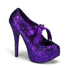 Trucs de filles / Girly stuff / Burlesque purple high heel shoes ||
