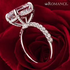Give her more than roses this Valentine's.... give her your heart. Romance has the perfect ring to begin your journey together. #shesaidyes #valentinesday #ido #romance #engagementrings #weddingrings #lovemyromance