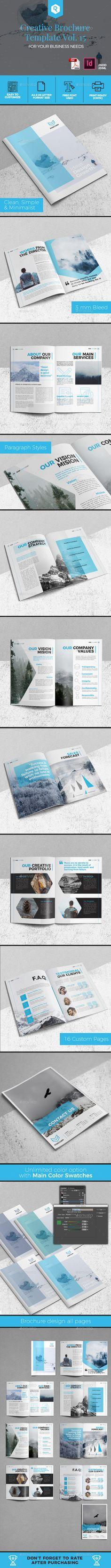 Creative #Brochure Template Vol. 15 - Corporate Brochures Download here: https://graphicriver.net/item/creative-brochure-template-vol-15/20007529?ref=alena994