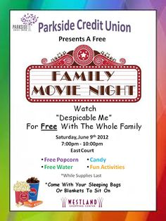 pta movie night flyer template family movie night fifth grade graduation decor ideas. Black Bedroom Furniture Sets. Home Design Ideas