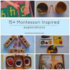 15+ Montessori Inspired Explorations for Three Year Olds | Montessori Nature