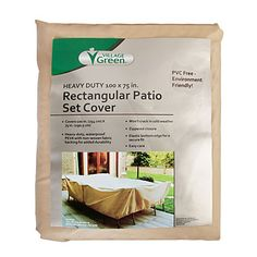 Village Green® Heavy-Duty Large Rectangular Patio Set Cover $22.99 Keep your outdoor furniture dry and protected year round with this heavy ...