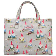 Cath Kidston Garden gnomes open carry all bag