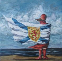 Wrapped up in Nova Scotia. Canadian Girls, Canadian Art, Maritime Tattoo, Atlantic Canada, Cape Breton, Flags Of The World, Cool Landscapes, Newfoundland, Pictures To Paint