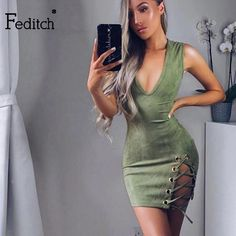 MAGICAL SUEDE DRESS