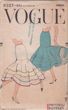 Vintage 50's Curve Hugging Mermaid Circle Flounce Crinoline Petticoat Slip