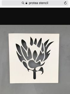 Protea stencil 2 Protea Art, Protea Flower, Flowers, Stencils, Stencil Wall Art, African Crafts, African Art, Stencil Patterns, Stencil Designs